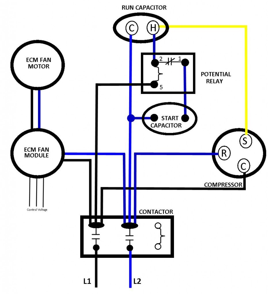condenser fan motor wiring schematic images trane xr80 wiring correct line voltage to ecm fan total performance diagnostic for the