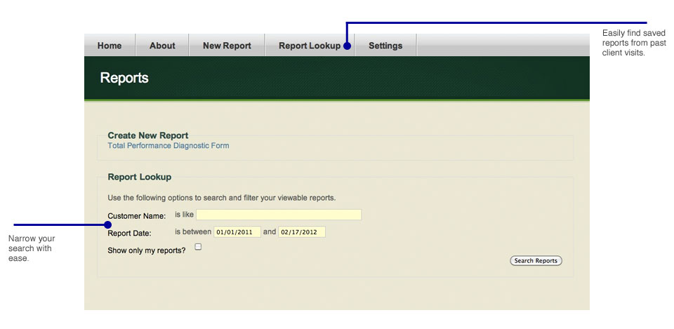 Search for reports with ease